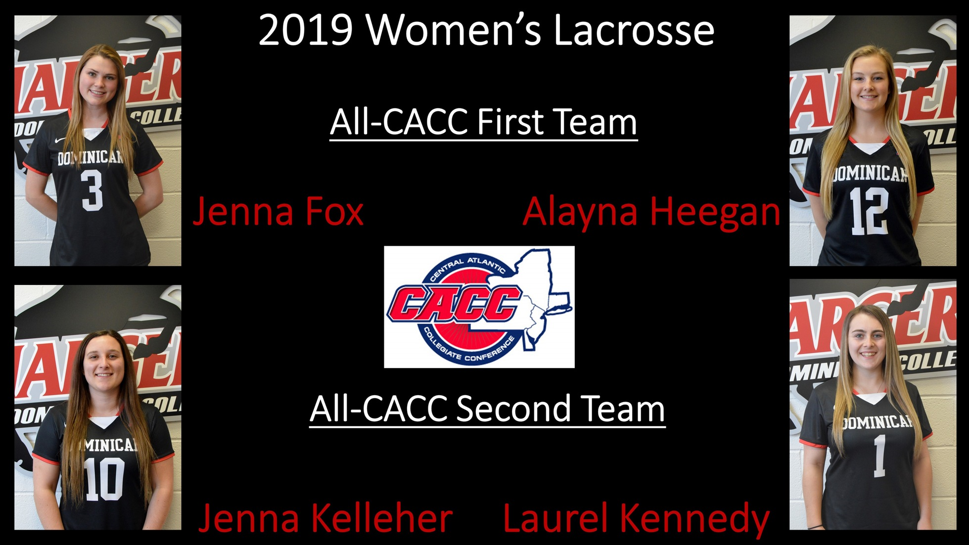 FOUR LADY CHARGERS EARN ALL-CACC WOMEN'S LACROSSE HONORS