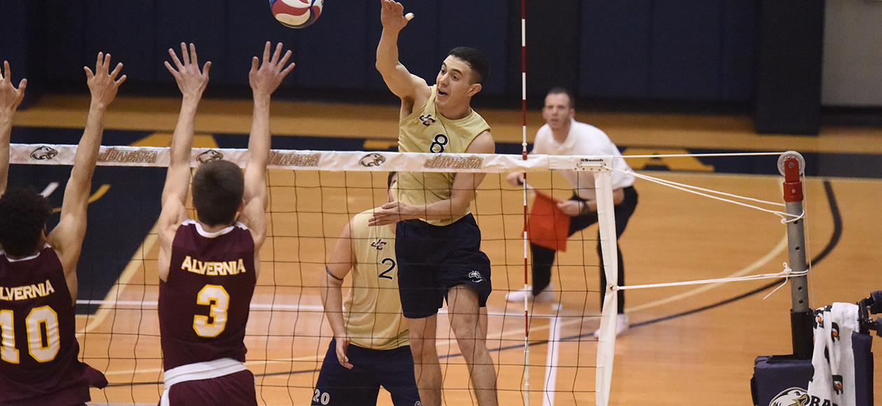 Matt Vasinko finished with 15 kills, 20 digs, and four assisted blocks on the day.