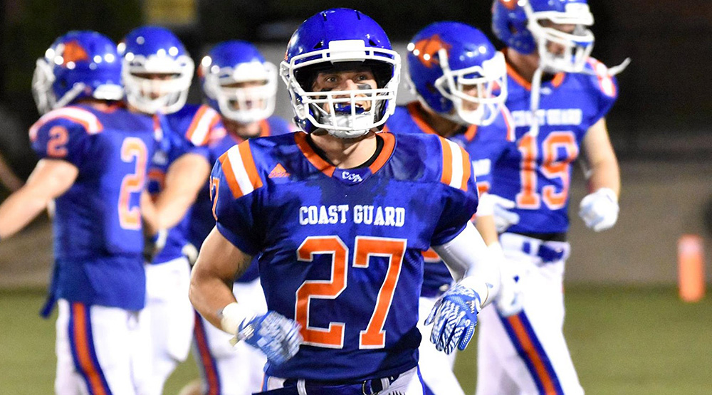 Michael Goldsworthy, he of the three interceptions. (Coast Guard athletics photo)
