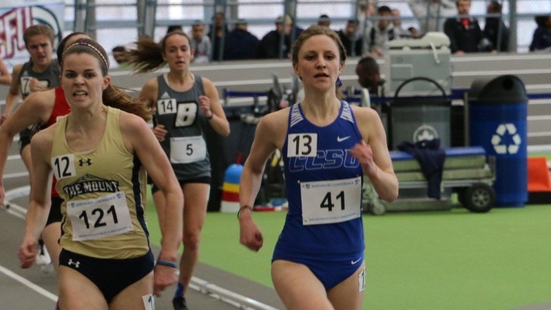 Women's Track in Second Place After Day One of NEC Championship