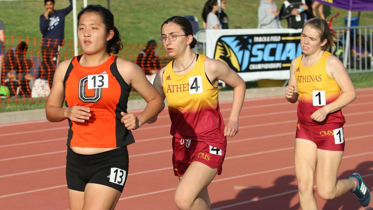 Senior Alexandra Lambros won the 5000 at the first SCIAC Multi-Dual (photo by Kiubon Kokko)
