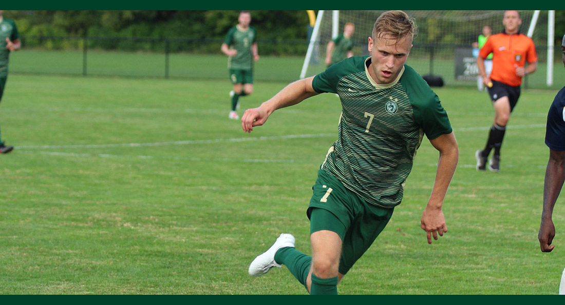 Leo Hasenstab scored twice in the 4-1 win over Ohio Dominican.