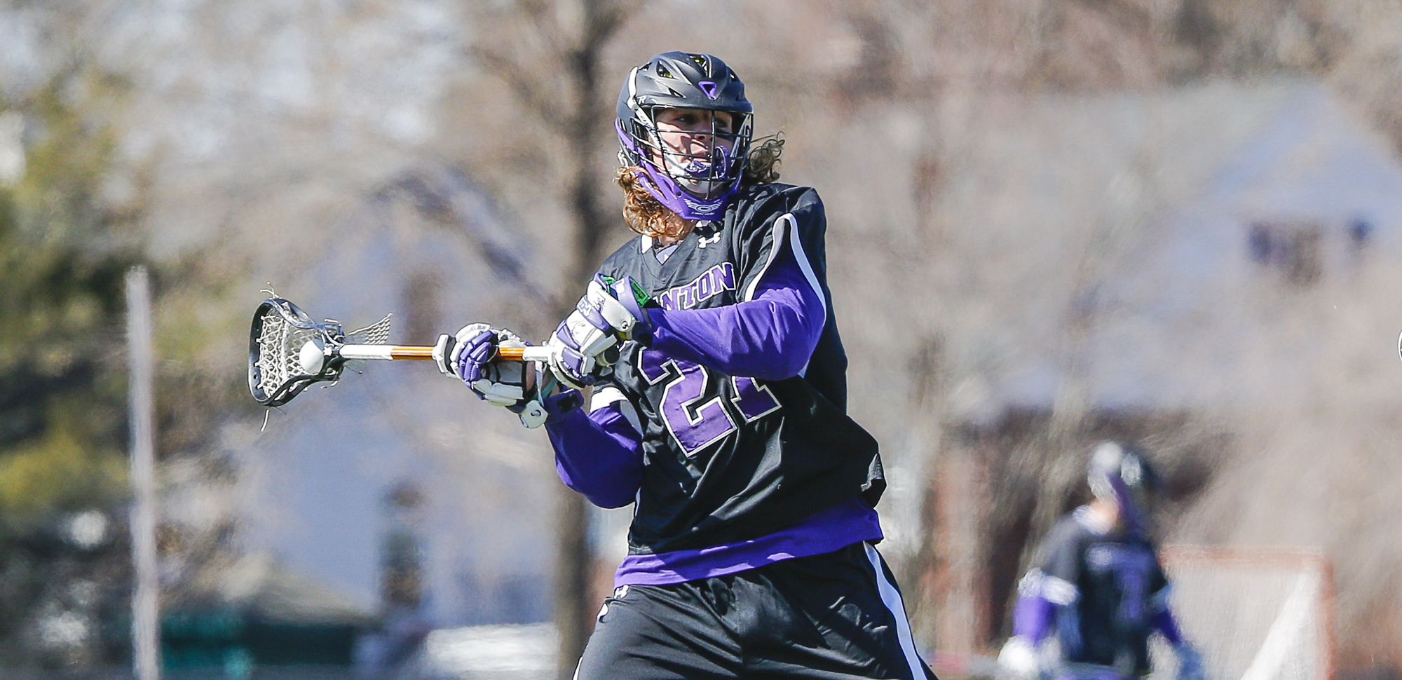 Junior midfielder Conor Carey had three goals and an assist in a season-opening 14-5 win over Muhlenberg on Saturday.