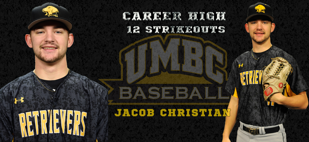 Christian Strikes Out 12; UMBC Baseball Downs Gardner-Webb, 6-0 on Sunday