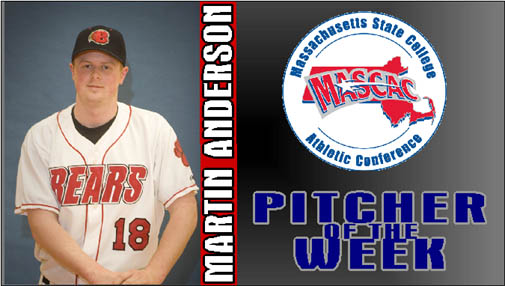 Martin Anderson Named MASCAC Pitcher of the Week