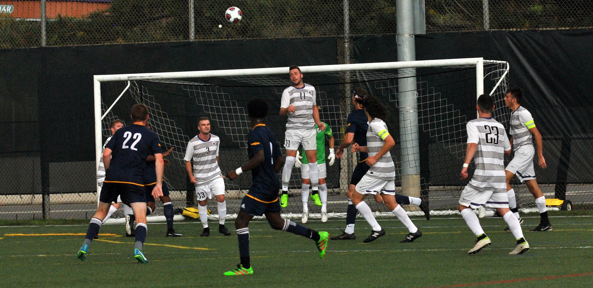 The men's soccer team will host its alumni game on Saturday, April 21.