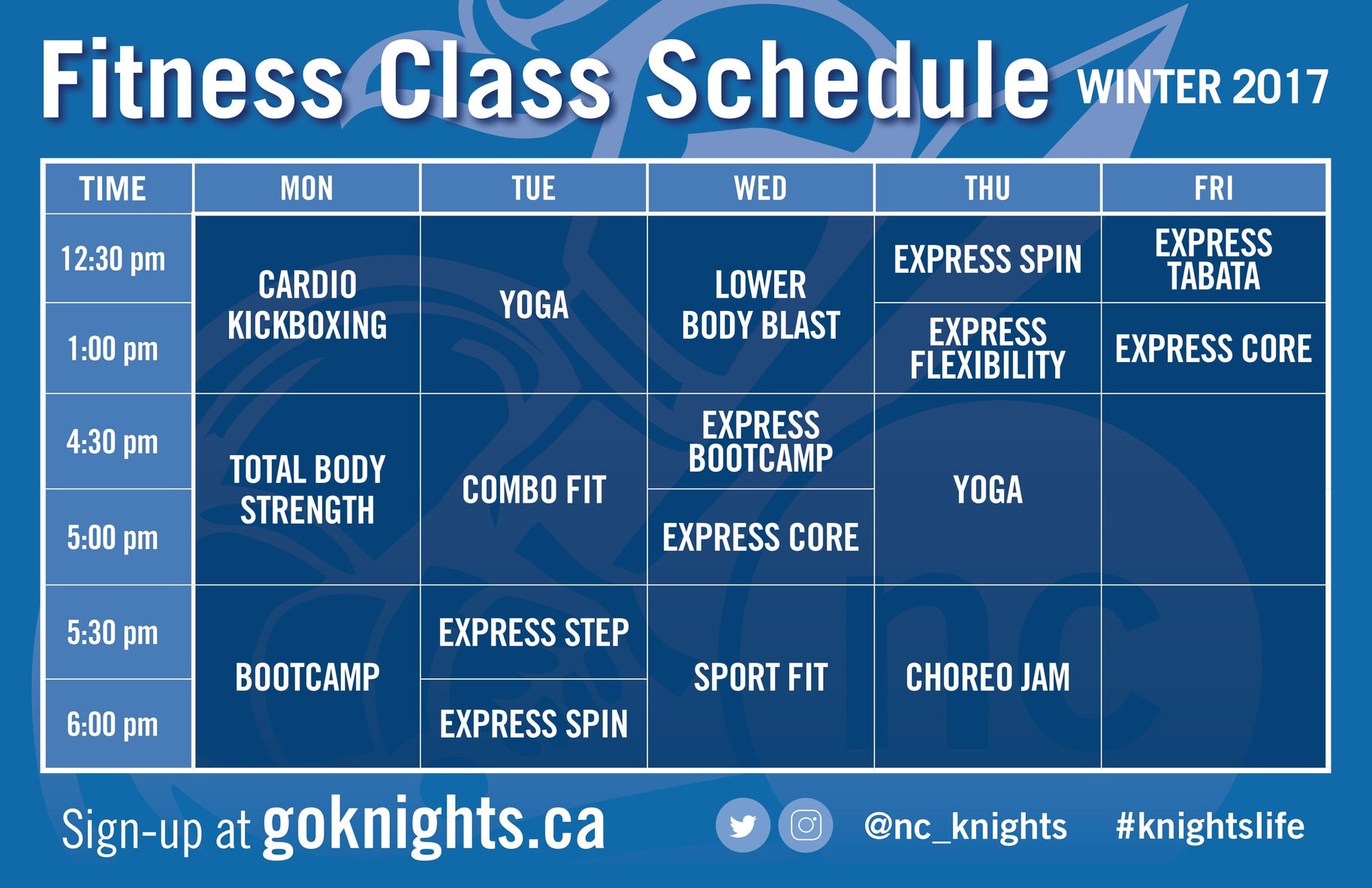 CLICK HERE: Fitness Class Schedule