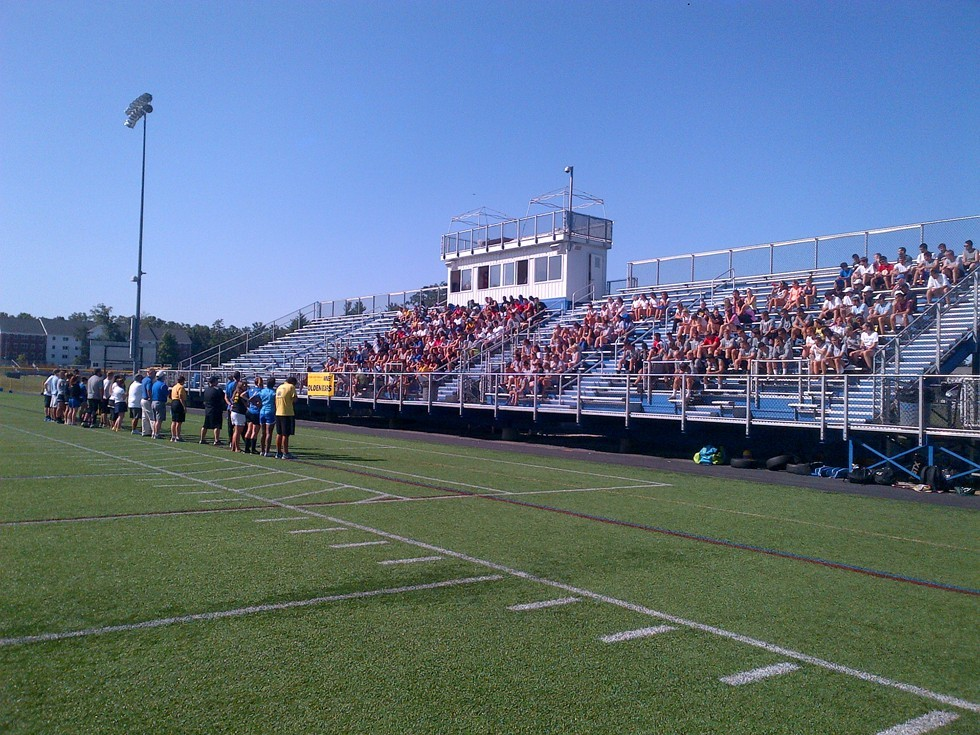 WNE Athletics Holds Fall Sports Orientation at Golden Bear Stadium