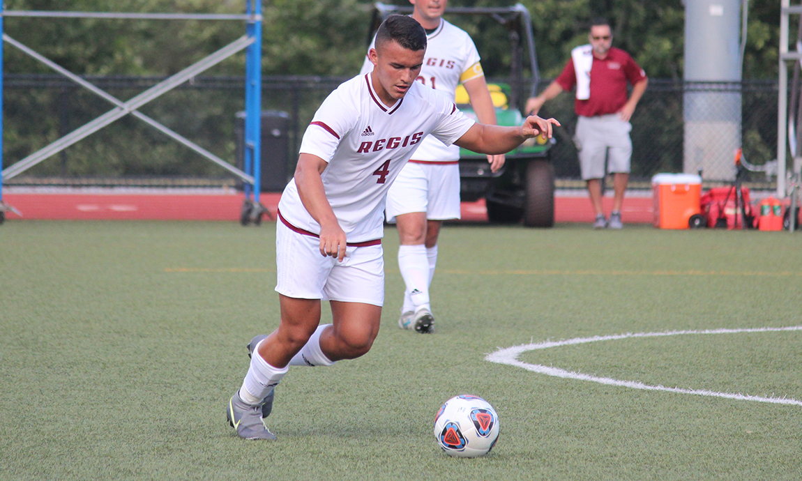 Regis Men's Soccer Holds On for GNAC Victory