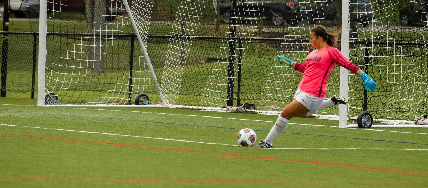Rebeccah Rojas kept a 110-minute clean sheet in Brevard's draw vs. Warren Wilson (Courtesy of Victoria Brayman).