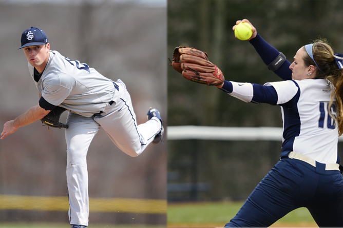 Herzing, Nichols Named AMCC Pitchers of the Week