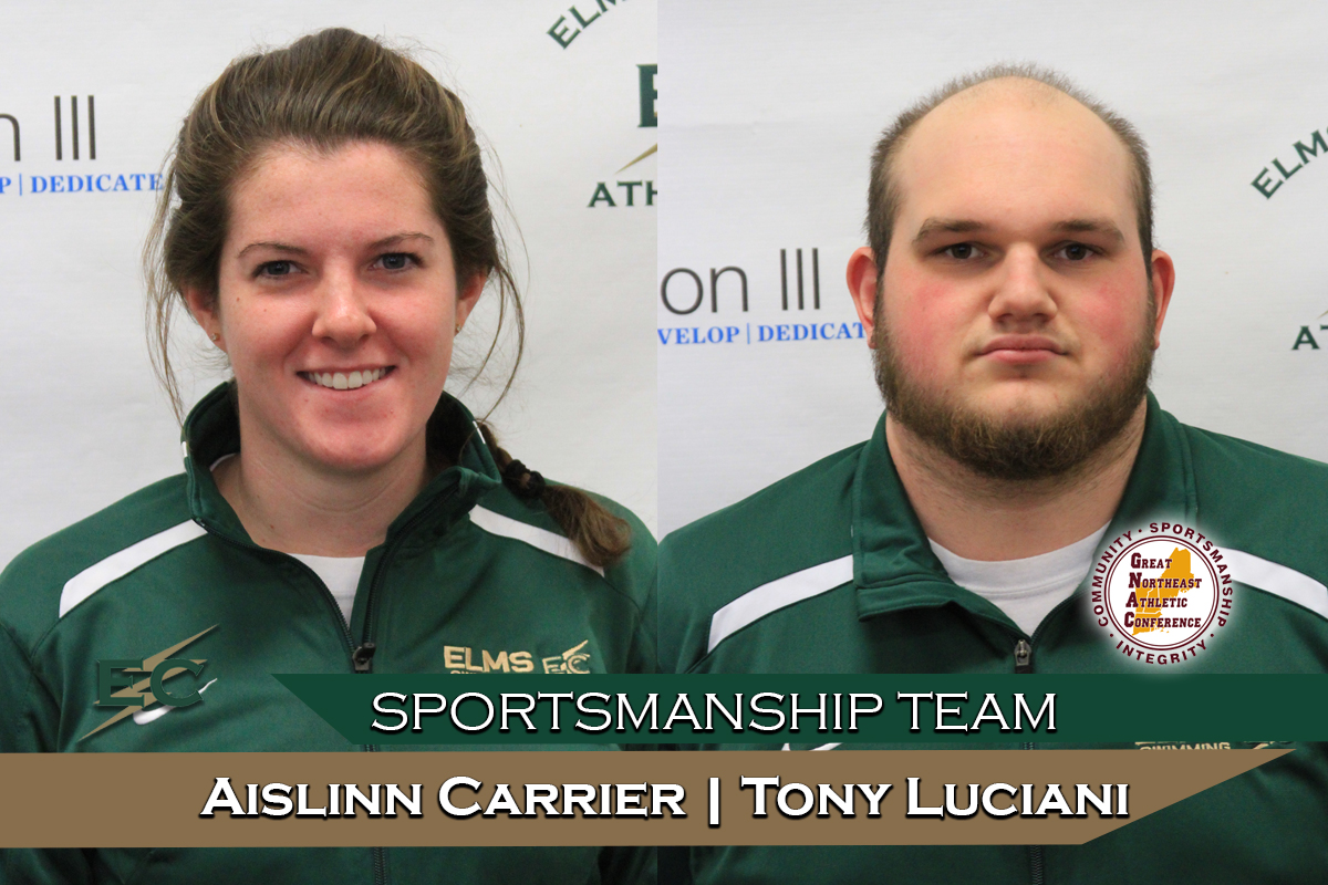 Carrier, Luciani Selected To GNAC Sportsmanship Team