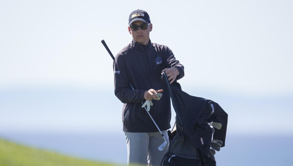Tyler See won his contest in the championship at the Cal Poly Match Play against UC Irvine. (Photo by Eric Isaacs)
