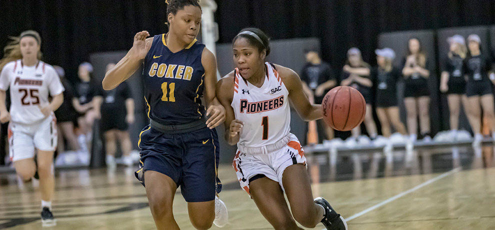 Pioneers beat Coker 71-57 for seventh straight win