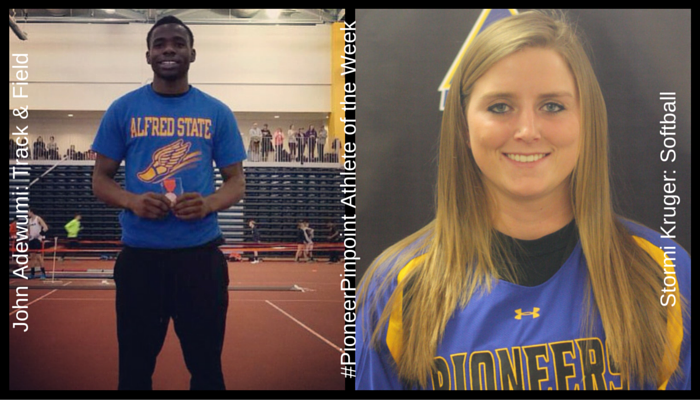 Kruger and Adewumi Named #PioneerPinpoint Athletes of the Week