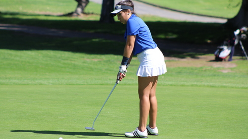Freshman Bruna Prestes posted two of her best rounds in 2016 at the Morro Bay Invite.