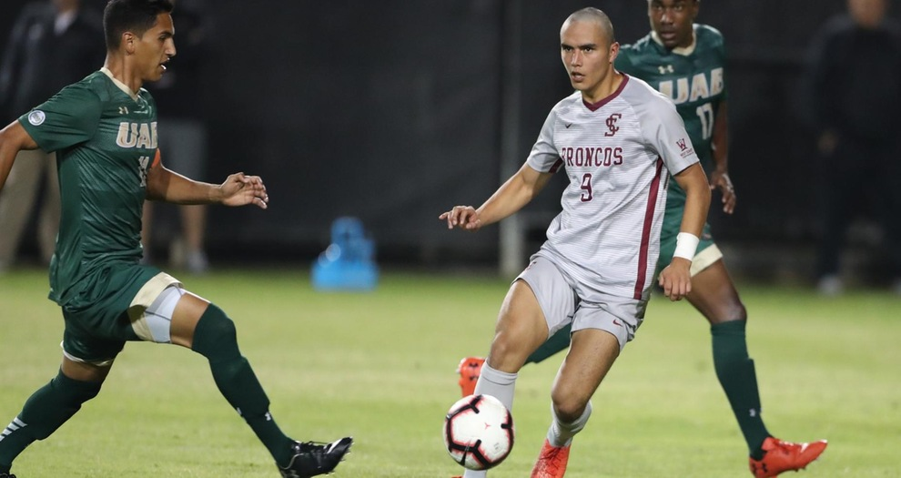 Men's Soccer Falls, 2-1, to UAB in Double Overtime