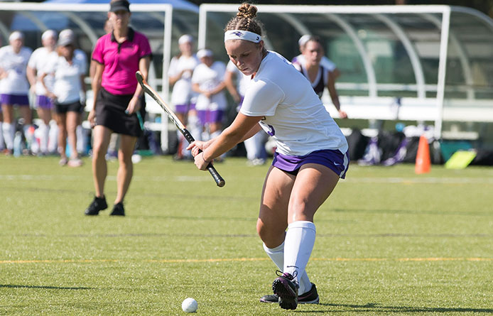 Field Hockey Drops 4-2 Decision at Bentley During NE10 Play
