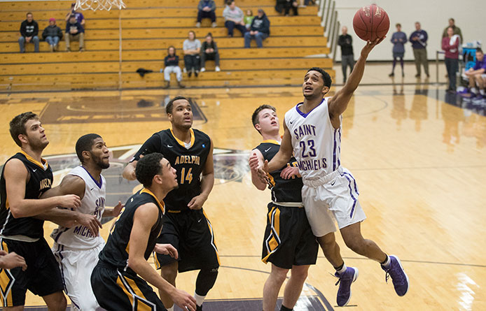 Men's basketball whittles deficit to single digits late in 86-74 loss at Franklin Pierce