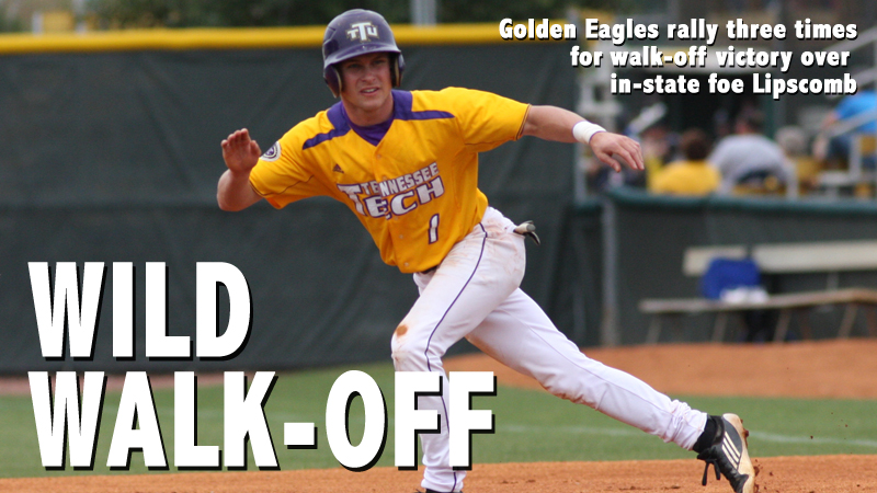Golden Eagles rally three times for walk-off win over Lipscomb