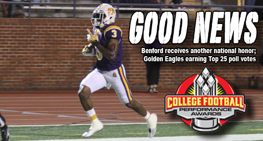 Golden Eagles getting votes in both FCS polls; Benford another honor