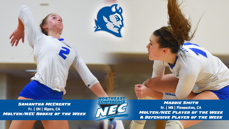 Volleyball Sweeps Northeast Conference Weekly Awards