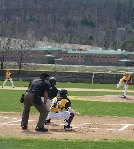 Broome player pitching to the opponent