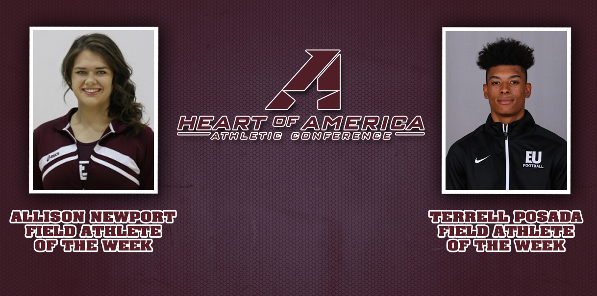 Newport and Posada Earn Heart Track & Field Weekly Honors