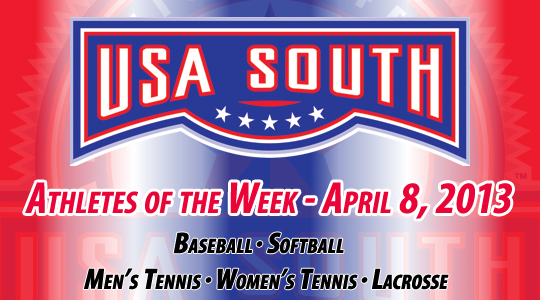 USA South Athletes of the Week - April 8, 2013
