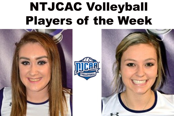 NTJCAC Volleyball Players of the Week (Oct. 2)