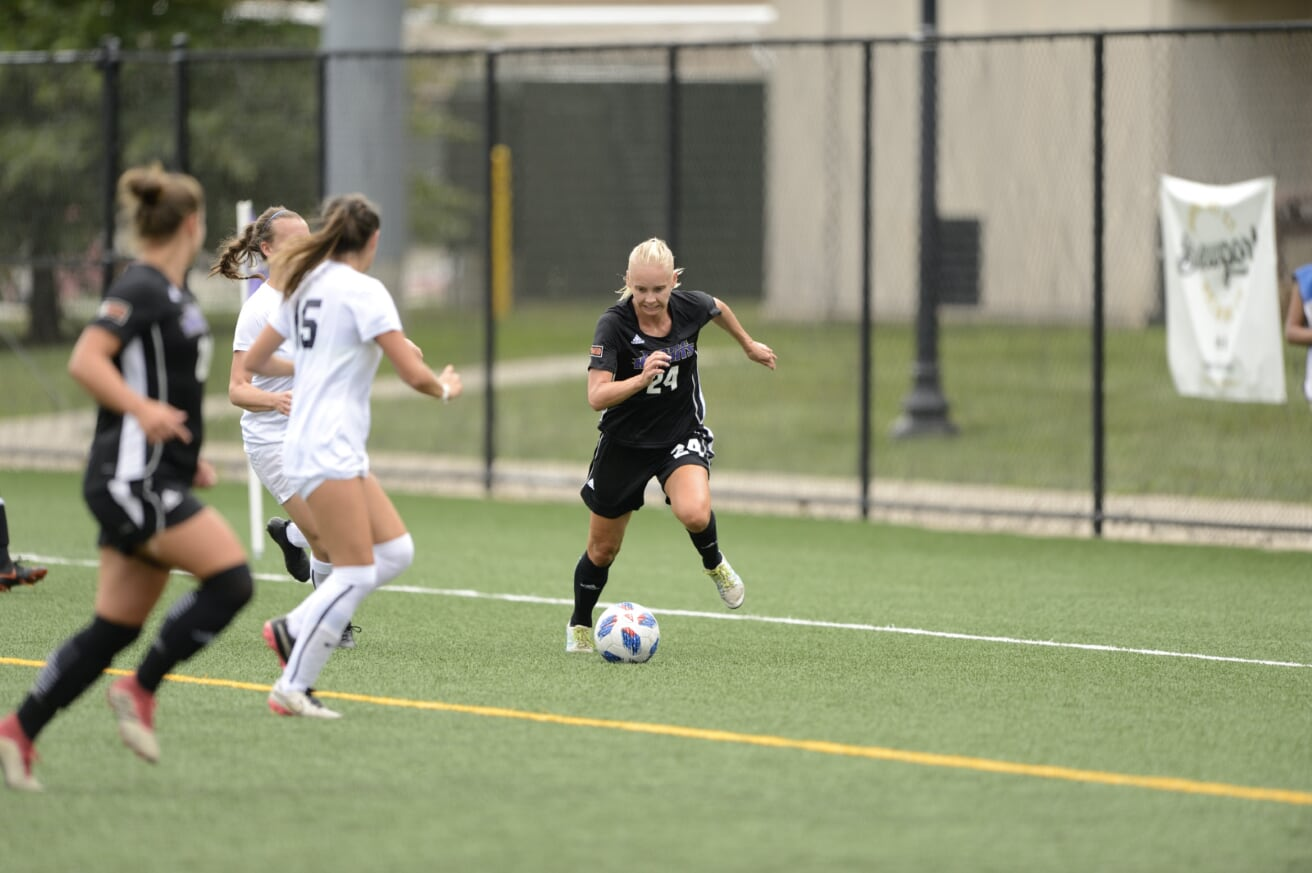 Eklund's Two Goals Help Lead UB Women's Soccer To 2-1 Home ECC Win Over St. Thomas Aquinas