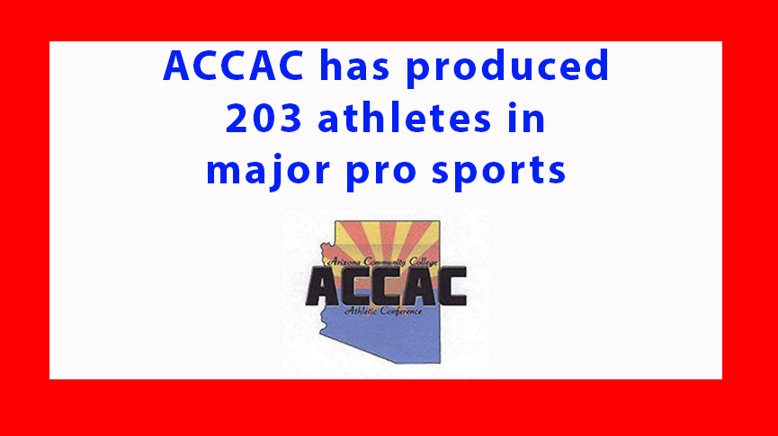 ACCAC has produced 203 athletes in major pro sports