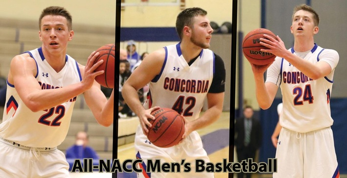 Trio of Falcons earn All-NACC Men's Basketball honors