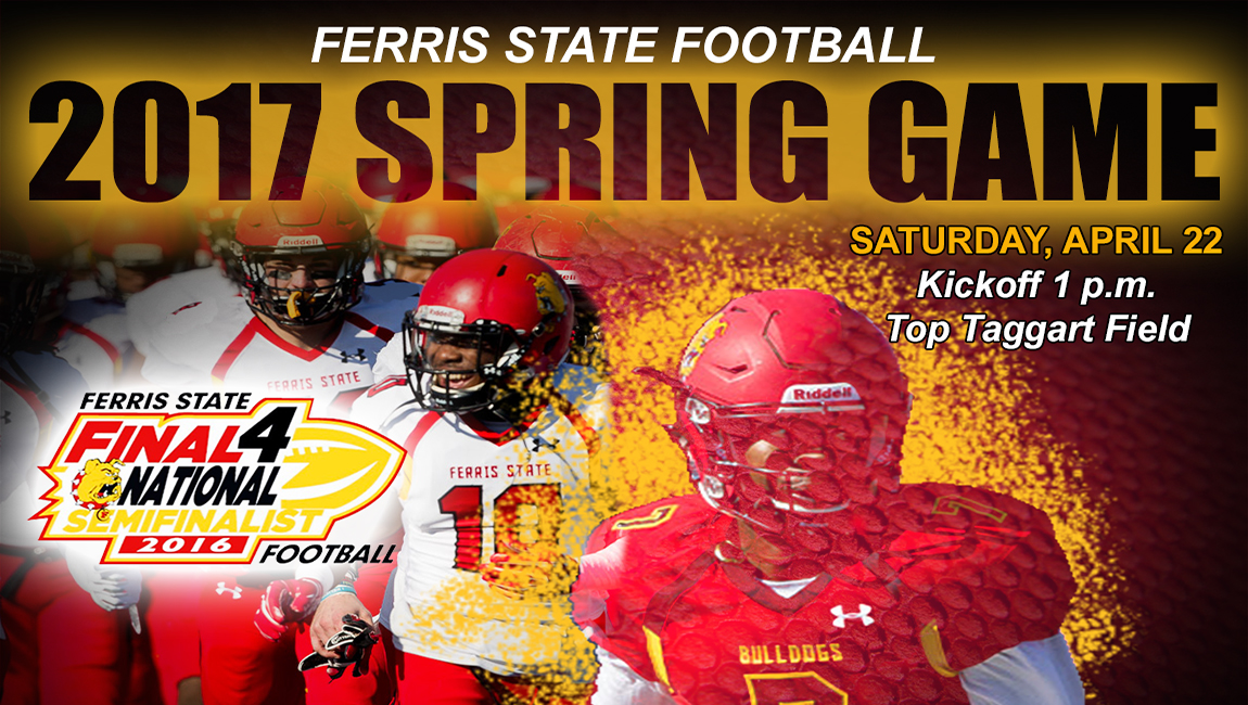 Ferris State Football's Crimson & Gold Spring Game Set For This Saturday At Top Taggart Field