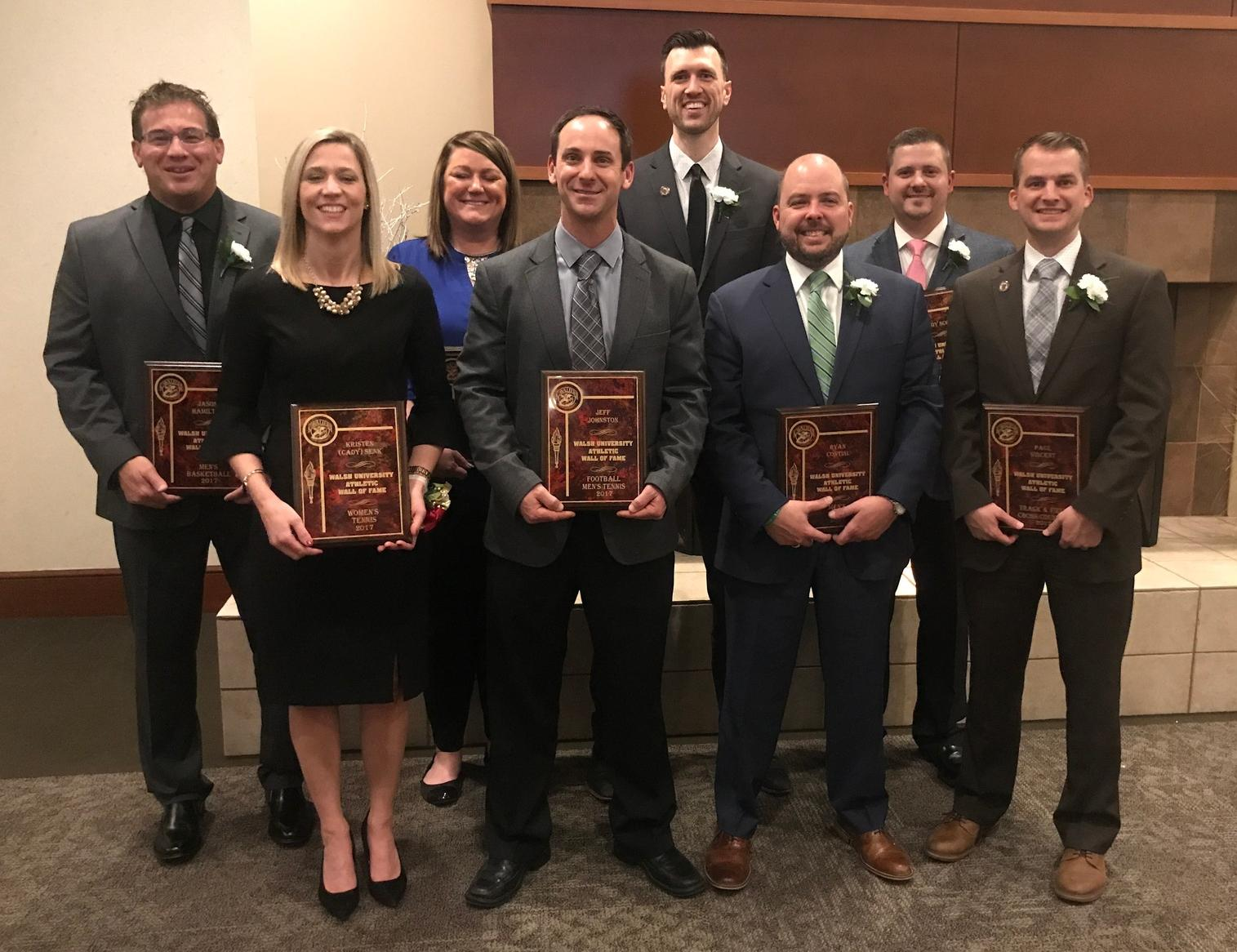 Walsh Inducts Eight Into Wall of Fame