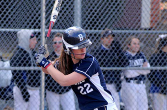 Softball drops opener to WPI, 3-1, but rallies for split with 8-3 win