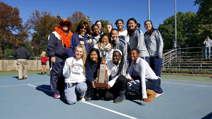 2017 Girl's Tennis Champions   Good Counsel
