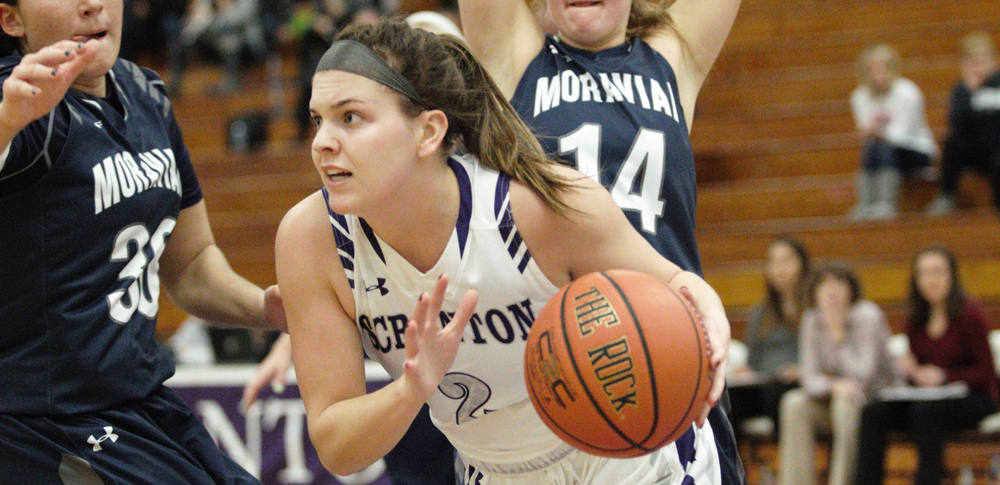 Emily Sheehan led Scranton with a season-high 16 points in the Lady Royals' victory over Susquehanna on Wednesday night.
