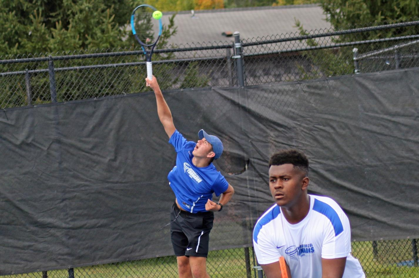 Number One Singles Win by Sepe Highlights BC Tennis Home Opener