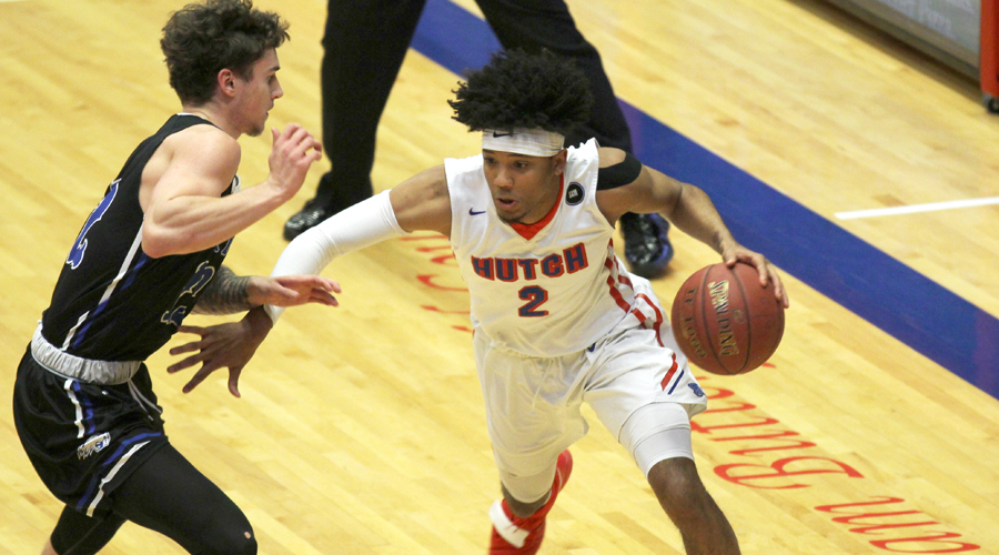 D.J. Mitchell scored 23 points in the Blue Dragons' 102-87 loss at Barton on Wednesday night in Great Bend. (Bre Rogers/Blue Dragon Sports Information)