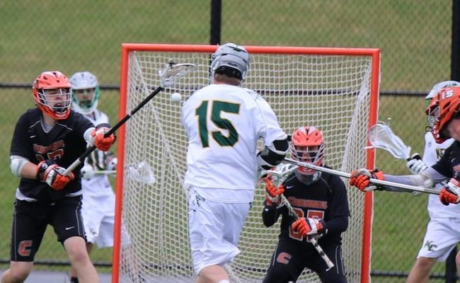 Craig Gerhardt (15) scored 4 goals and added 3 assists for Keuka on Wednesday -- Photo by Shelby Lamb