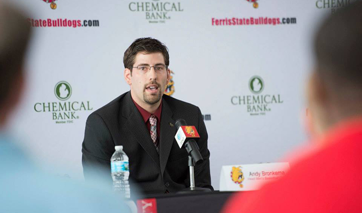 Andy Bronkema Officially Introduced As Ferris State Head Coach In Afternoon Press Conference