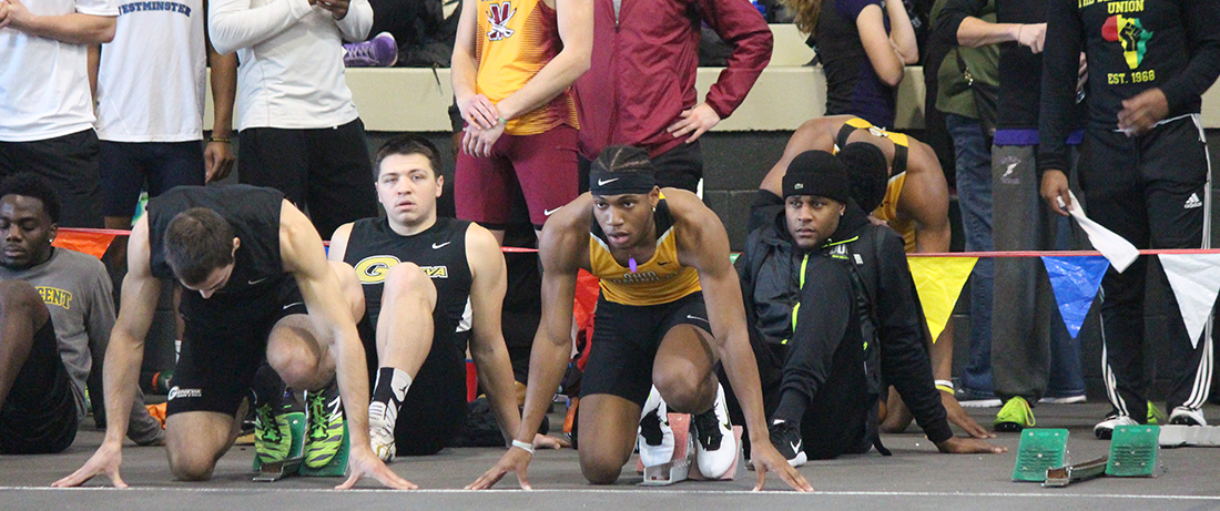 Woods Matches Men's 60 Meter School Record Time To Lead Track And Field On Day One Of GLIAC Indoor Championships