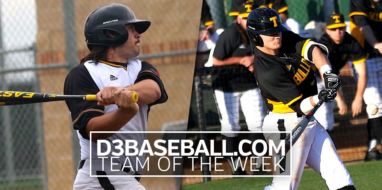 Texas Lutheran's Boysen, Cauley Named to D3Baseball.com Team of the Week