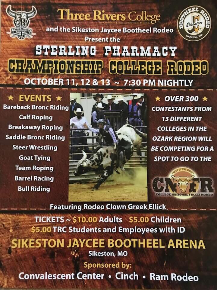 Sterling Pharmacy Championship College Rodeo to be held October 11-13