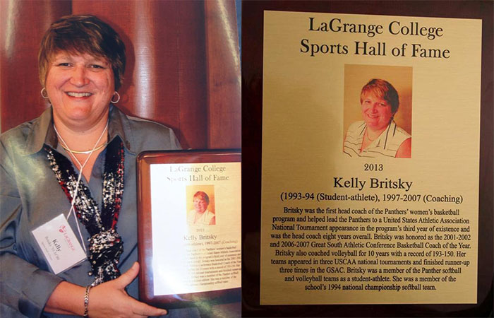 Coach Kelly Britsky Inducted Into LaGrange College Hall Of Fame