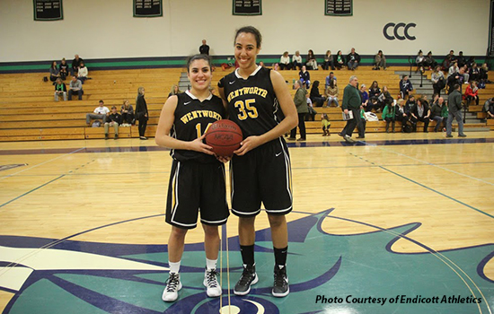 Rogers, Camara Achieve Milestones in Women's Basketball's Loss at Endicott
