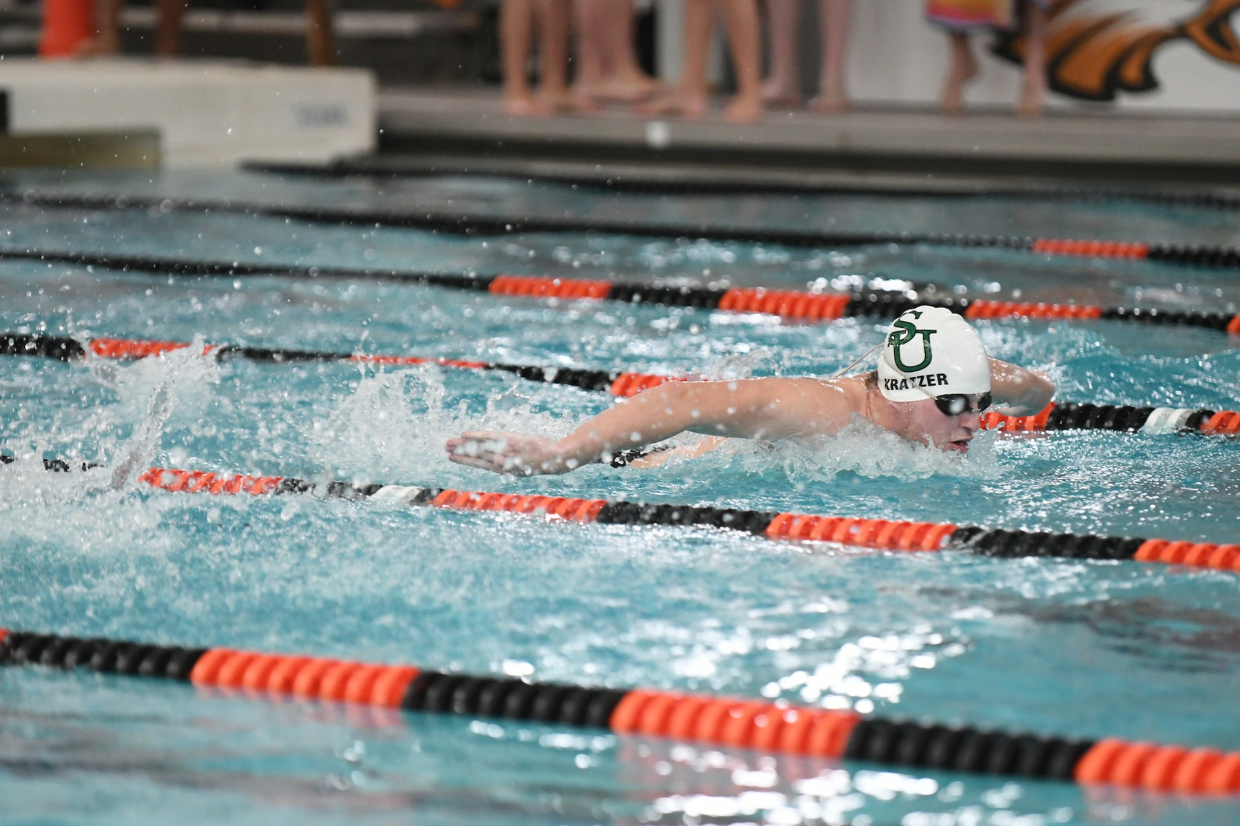 Kratzer Takes 11th in 100 Fly at MAC Championships