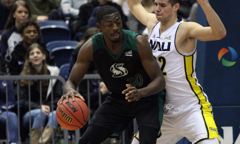 PATTON SCORES 34, INCLUDING THE GAME WINNER WITH 0.5 SECONDS LEFT; HORNETS WIN AT NAU, 66-64