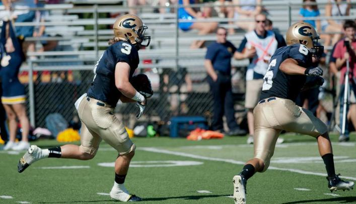 Sweeney Scores Three Rushing Touchdowns in 31-28 Loss to Johnnies